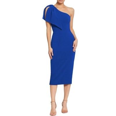 ドレスザポプレーション レディース ワンピース トップス Tiffany One Shoulder Midi Sheath Dress Electric Blue