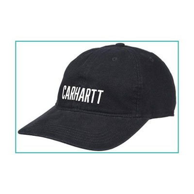 Carhartt Men's Canvas Block Logo Graphic Cap, Black, OFA【並行輸入品】
