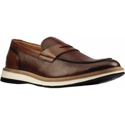 クラークス メンズ スリッポン・ローファー シューズ Men's Clarks Chantry Penny Loafer Tan Leather