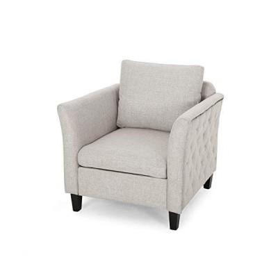 Betty Traditional Fabric Club Chair, Beige