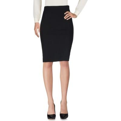 マウロ グリフォーニ MAURO GRIFONI ひざ丈スカート ブラック 40 ウール 97% / ポリウレタン 3% ひざ丈スカート