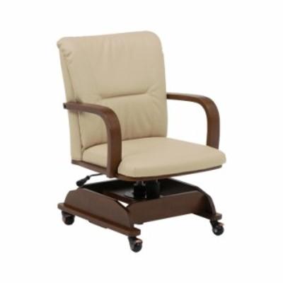 萩原 コタツチェアー KOC-7019BR 椅子 回転 高さ調節(代引不可)【送料無料】