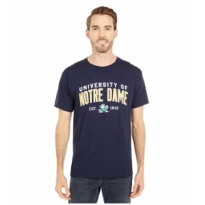 チャンピオン メンズ シャツ トップス Notre Dame Fighting Irish Jersey Tee Navy 4