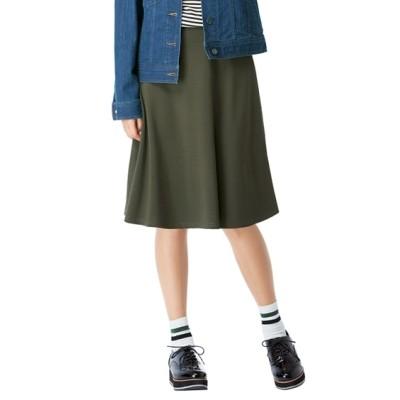 大きいサイズ 人気のためネット限定色追加!!カットソー無地フレアスカート(選べるスカート丈) ,スマイルランド, スカート, plus size skirts