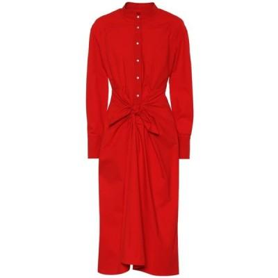プロエンザ スクーラー Proenza Schouler レディース ワンピース ミドル丈 ワンピース・ドレス Cotton-blend midi dress Poppy