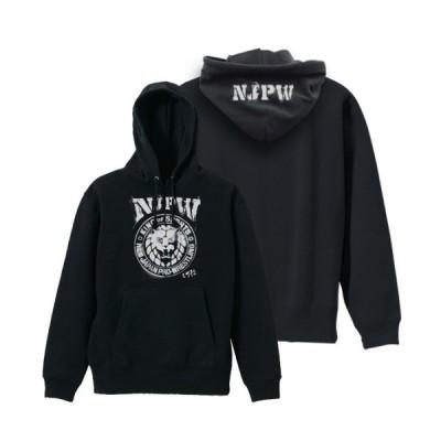 コスパ 新日本プロレスリング NJPWステンシルライオンマーク プルオーバーパーカー BLACK