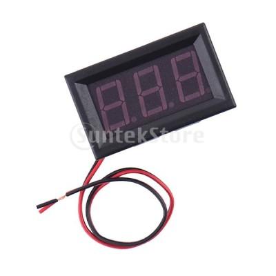 2線ac70-500vデジタルボルト電圧計電圧計車モーター0.56 ''