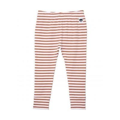 HUXBABY キッズ 子供用 ファッション 子供服 パンツ ズボン Stripe Leggings (Infant/Toddler) - Terracotta/White Stripe