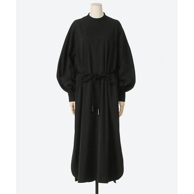 <HYKE(Women)/ハイク> TASLAN TWILL DRESS 01BLACK【三越伊勢丹/公式】