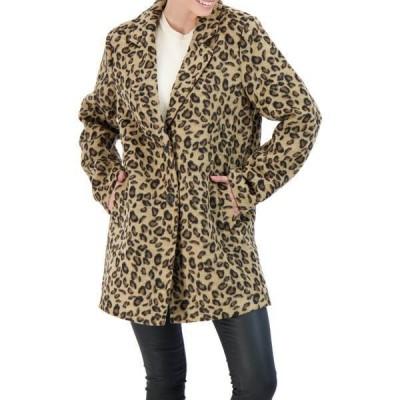 セビー レディース ジャケット&ブルゾン アウター Collection Single Breasted Topper Coat LEOPARD