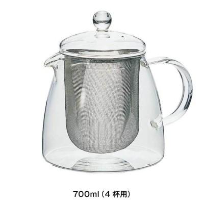 ポット ティーポット ピュア 700ml 耐熱ガラス 日本製 リーフティー 4杯用 おしゃれ 硝子