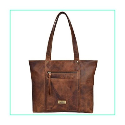 Genuine Leather Crossbody Handbag for Women - Shoulder bag for Womens Handmade by LEVOGUE (VINTAGE COGNAC)並行輸入品