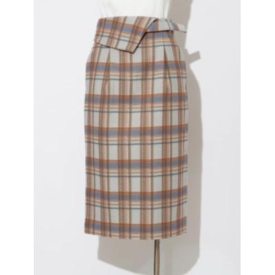 【ソフィラ/sophila】 チェックフラップタイトスカート