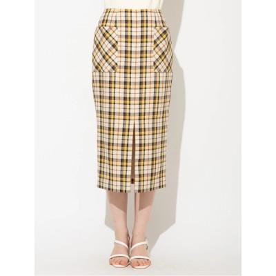 チェックタイトポケットスカート