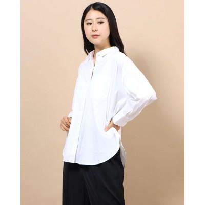 リネーム Rename レギュラーカラーデザインシャツ (ホワイト)