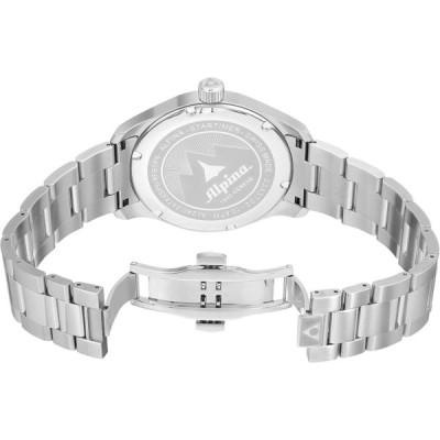 Alpina Men's Startimer Swiss-Quartz Watch with Stainless-Steel Strap,