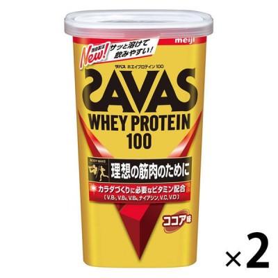 明治ザバス(SAVAS) ホエイプロテイン100 ココア味 14食分 1セット(2袋) 明治 プロテイン