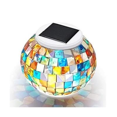 電光ホーム LED ソーラー ガーデンライト モザイク ガラス 屋外 置き型 自動点灯 消灯 おしゃれ かわいい レトロ