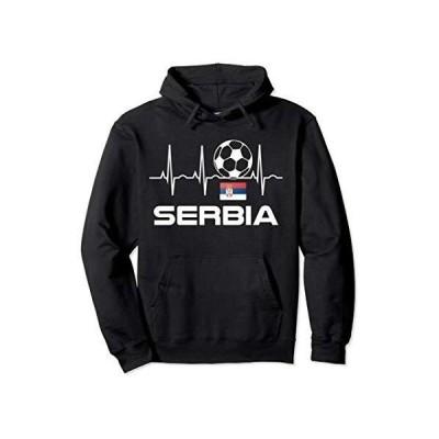 Serbia Soccer Hoodie - Serbian Heartbeat Hooded Sweatshirt