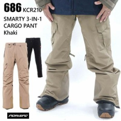 686 シックスエイトシックス ウェア SMARTY 3-IN-1 CARGO PANT 21-22 KHAKI スノーボード ボード メンズ パンツ ロクハチ