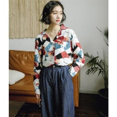 急在庫追加 売り切れ前に急いで 韓国ファッション 香港風 プリント シャツ 学院風 sweet系 トップス