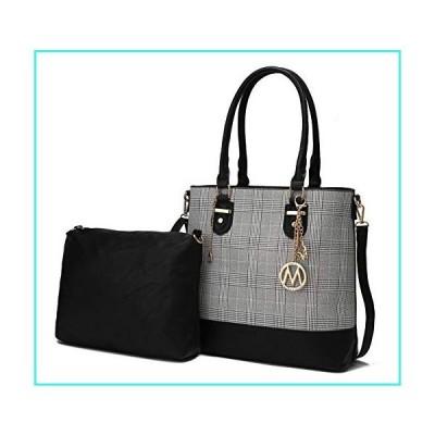 【新品】Mia K Collection 2-PC Set, Tote Bag for Women, Pouch Handbag Purse PU Leather Pocketbook Crossbody Shoulder Strap Black(並行輸入品
