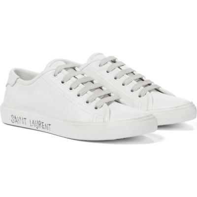 イヴ サンローラン Saint Laurent レディース スニーカー シューズ・靴 malibu leather sneakers Blanc Opt/Blan Opt