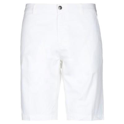 レ コパン LES COPAINS バミューダパンツ ホワイト 46 コットン 96% / ポリウレタン 4% バミューダパンツ