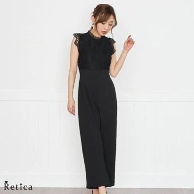 パーティードレス 結婚式 パンツ フォーマル レディース 二次会  パンツスタイル ドレス(ブラック)(Mサイズ)Reticamew レティカミュウ
