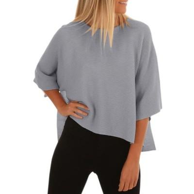 レディース 衣類 トップス Womens Oversized Sweaters 3/4 Sleeve Knitted Pullover Tops ブラウス&シャツ