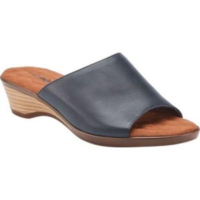 ウォーキング クレードル Walking Cradles レディース サンダル・ミュール スライドサンダル シューズ・靴 Kerry Slide Sandal Navy Leat