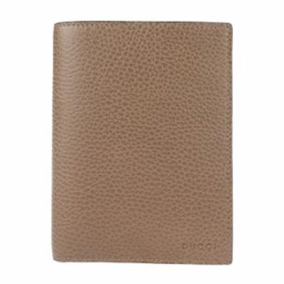 新品未使用展示品 GUCCI グッチ 346079 パスケース レザー ブラウン 二つ折り 札入れ カードケース【本物保証】