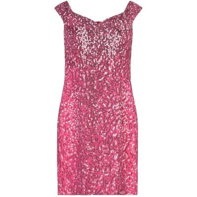 モスキーノ MOSCHINO ミニワンピース&ドレス フューシャ 46 レーヨン 96% / 指定外繊維 4% ミニワンピース&ドレス