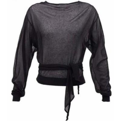 ルメール Lemaire レディース ニット・セーター トップス Tie-waist wrap sweater Black