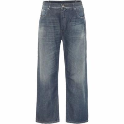 メゾン マルジェラ MM6 Maison Margiela レディース ジーンズ・デニム ボトムス・パンツ High-Rise Straight Jeans Vintage Gree Cast