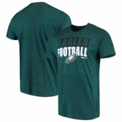 47 フォーティーセブン スポーツ用品  47 Philadelphia Eagles Midnight Green Blockout Club T-Shirt