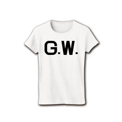 G.W. リブクルーネックTシャツ(ホワイト)