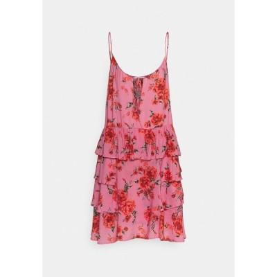 リプレイ ワンピース レディース トップス DRESS - Day dress - pink/red/forest green