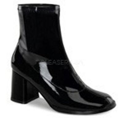 ショートブーツ FUNTAZMA Pleaser プリーザー GOGO-150 3 Block Heel (gogo150-b) エナエル レディース お取り寄せ商品
