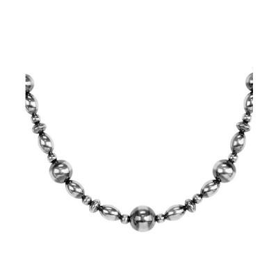 アメリカンウェスト ネックレス・チョーカー・ペンダントトップ アクセサリー レディース Two Tone Native Pearl Beaded Necklace in Sterling Silver Silver