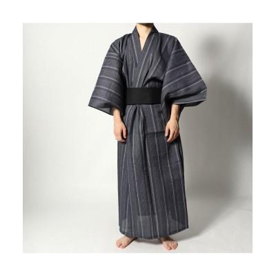【スタイルブロック】 シジラ織り浴衣帯セット メンズ A L STYLEBLOCK