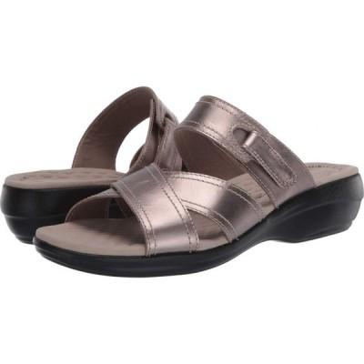 クラークス Clarks レディース サンダル・ミュール シューズ・靴 Alexis Art Pewter Metallic Leather