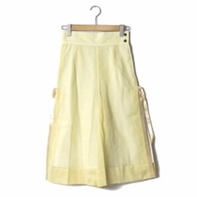 TOGA PULLA トーガ プルラ 16SS 日本製 fringe wide pants フリンジワイドパンツ TP61-FF239 36 スリット
