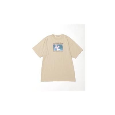 レイカズン Ray Cassin CMP 女の子フォトビックTシャツ (ベージュ)