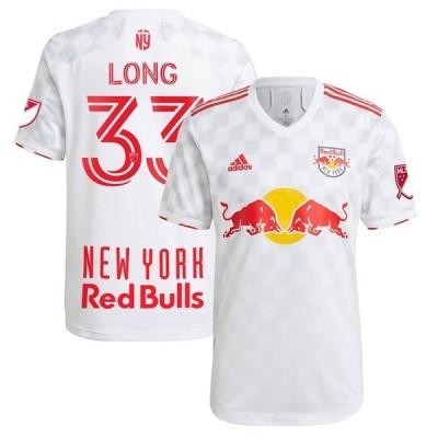 アディダス メンズ Tシャツ トップス Aaron Long New York Red Bulls adidas 2021 1Beat Authentic Player Jersey