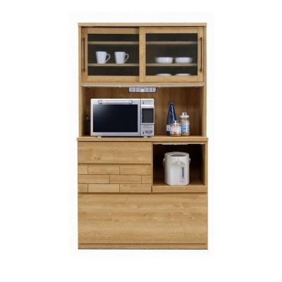 食器棚 レンジ台 キッチンボード 105 おしゃれ 日本製 完成品 木製 キッチン収納 開梱設置送料無料 日本一の家具産地大川の家具 大川家具