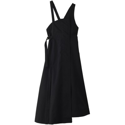AULA アウラ 【AULA AILA】ウエストマークジャンパースカート レディース ブラック 0