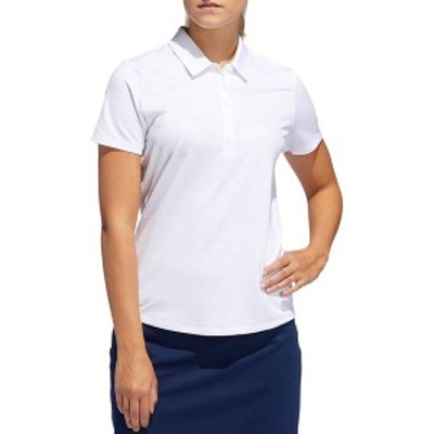 アディダス レディース シャツ トップス adidas Women's Microdot Short Sleeve Golf Polo White
