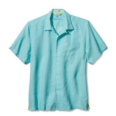 トッミーバハマ メンズ シャツ トップス Sea Glass Linen Short-Sleeve Woven Camp Shirt Lawn Chair