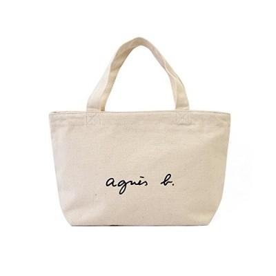 agnes b. VOYAGE アニエスベー ボヤージュ コットン トートバッグ ミニトート キャンバス (アイボリー)☆人気商品